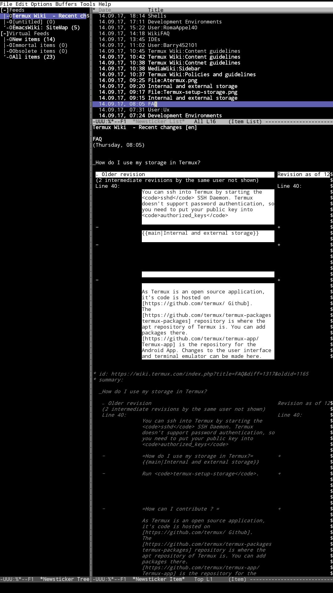 Newsticker - Termux Wiki